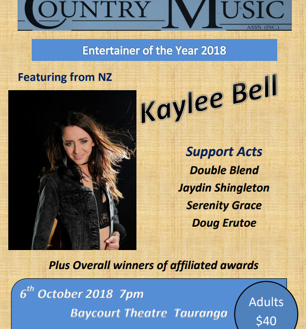 New Zealand Country Music Entertainer of the Year 2018